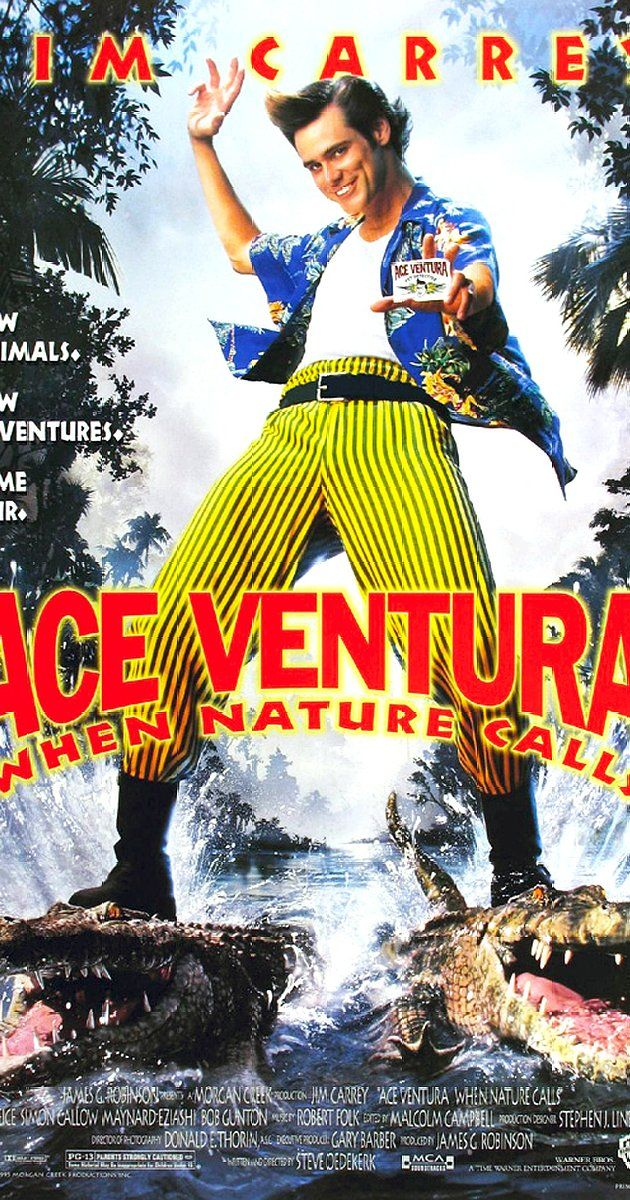 Directed by Steve Oedekerk.  With Jim Carrey, Ian McNeice, Simon Callow, Maynard Eziashi. Ace Ventura, Pet Detective, returns from a spiritual quest to investigate the disappearance of a rare white bat, the sacred animal of a tribe in Africa.