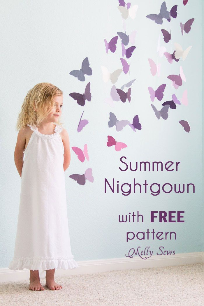 1913460ecf Sew Nightgown or a White Summer Dress Tutorial