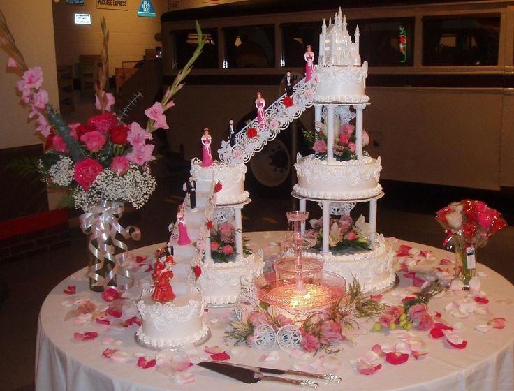 image of a stairs in wedding cake 25 best images about wedding cakes with fountains and 16312