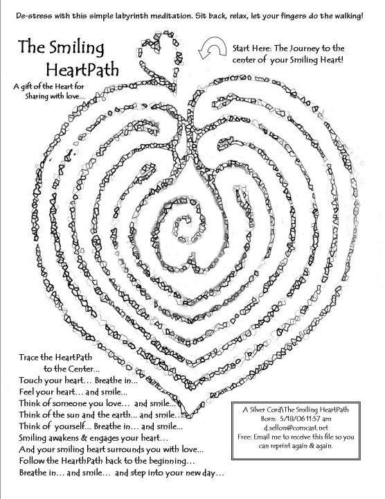 Heart path labyrinth.  Modify for prayer and labyrinths.