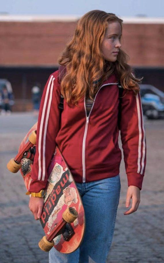 Stranger Things Season 2 Mad Max Maxine Red Track Jacket In