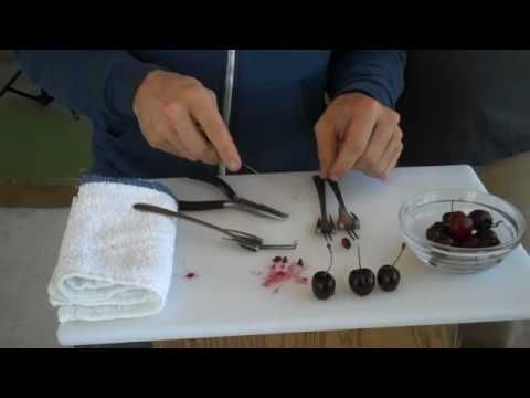 DIY-How to Make a Homemade Cherry Pitter.  This is brilliant!  I have 5lbs of cherries in the fridge right now, and am not looking forward to using my plunger-type cherry pitter that flings cherry juice everywhere.  Going to swing by Goodwill and pick up a few cheap forks.