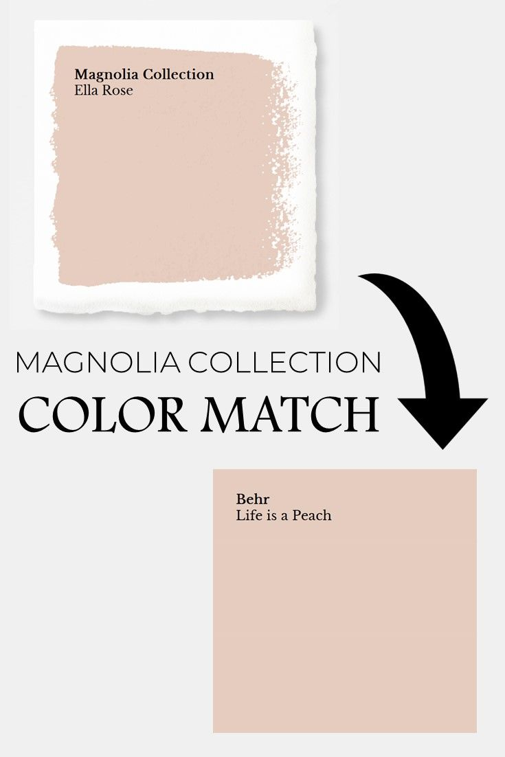 Magnolia Home Market Collection Color Match To Behr Ella Rose Depot Paint Joanna Gaines Fixer Upper