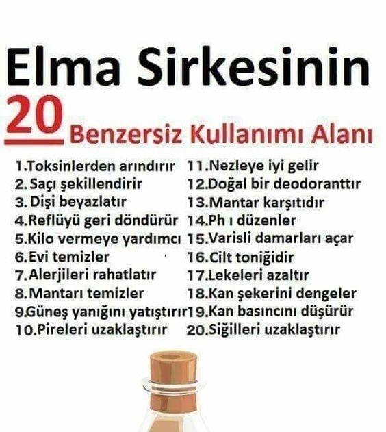 Elma Sirkesinin 20 Benzersiz Kullanım Alanı @kadinedio #kadın #sağlık #bitkisel #çay