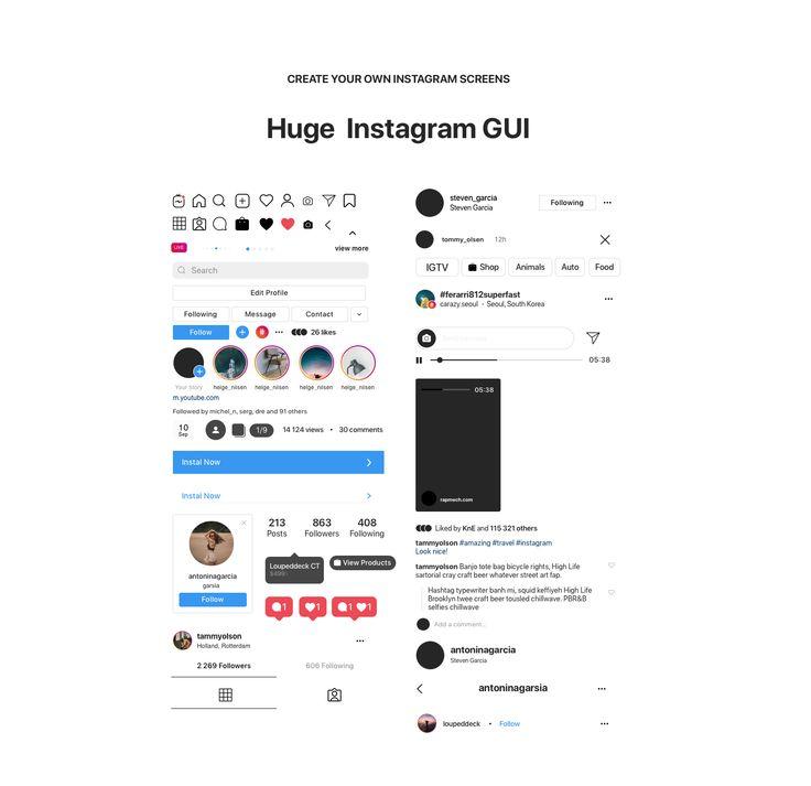 Instagram Mockup 2020 Free Download Psd Sketch Figma Instagram Mockup Figma Iphone Instagram