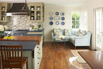 Kitchen Trends for 2013   Traditional Home....I LOVE that sofa!!