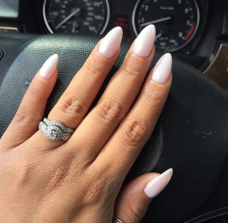 Almond Shape Nails w/ Orly Kiss the Bride nail polish ...