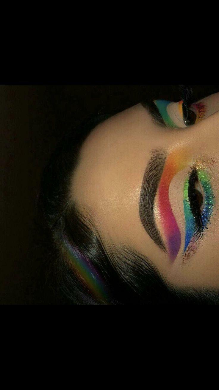 rainbow cut crease eyeshadow