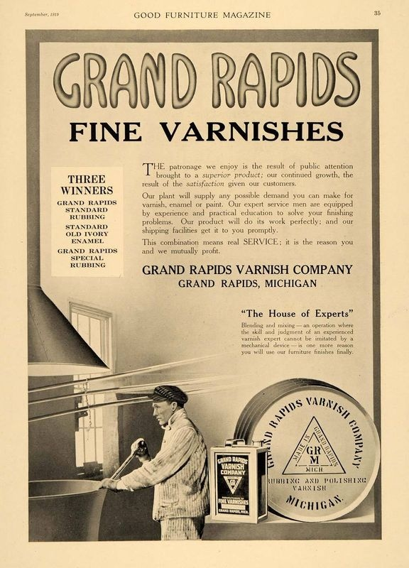 Ad for Grand Rapids Varnish Company - 1919 - 156 Best Grand Rapids - 1910s Images On Pinterest Michigan