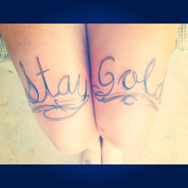 17 best ideas about stay gold tattoo on pinterest stay for The outsiders tattoo