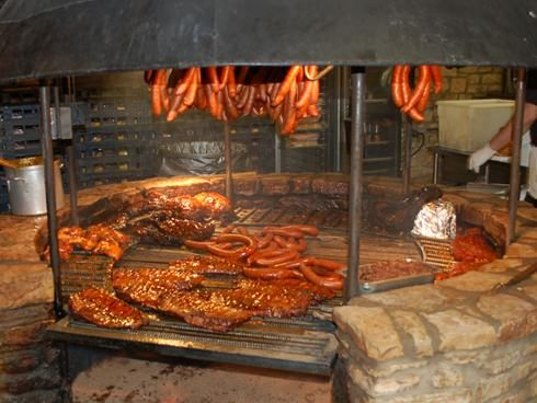 This stone pit is what sets The Salt Lick in Texas apart from almost every other renowned barbecue restaurant in the nation. Meats are prepared with a combination of direct cooking over the flames on this grill and slow cooking in a smoker.