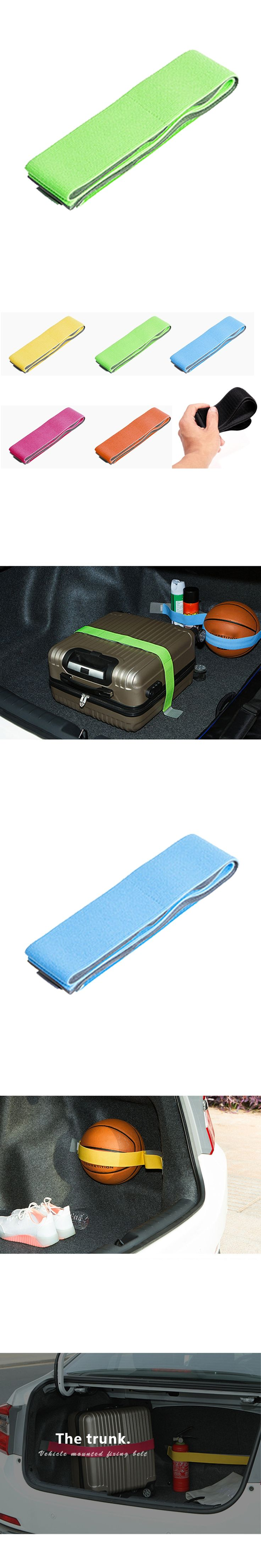 Dewtreetali Car Trunk Organizer Elastic Car-styling Color Strap Fixed Sundry Stowing Tidying Automobiles Interior Accessories