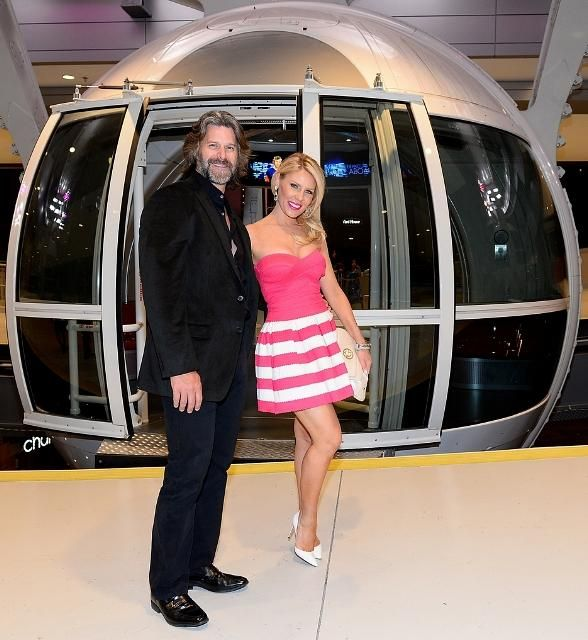 """On Friday, June 20, """"The Real Housewives of Orange County"""" and """"Marriage Boot Camp"""" stars Gretchen Rossi and Slade Smiley brought the OC to the Vegas Strip (Photo credit: Bryan Steffy / WireImage / www.BryanSteffyPhoto.com)."""