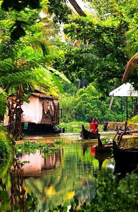 Kerala backwaters, India - Double click on the photo to Design  Sell a #travel guide to India http://www.guidora.com