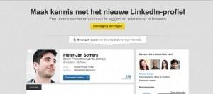 Linkedin komt met een nieuw linkedin profiel