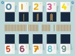 Nummerland- leer nummers met Montessori Doelgroep: 3 – 5 jaar Wat leert je kind van deze app:  * Cijfers 0 t/m 9 herkennen * Cijfers schrijven * Tellen * Hoeveelheid bij de cijfers kennen