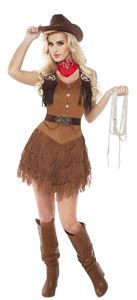 Silver Star Cowgirl Adult Womens Costume - 351276 | trendyhalloween.com #trendyhalloween #cowgirlcostumes