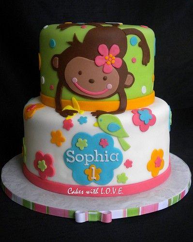 monkey girl cake | Monkey Cakes and Cupcakes