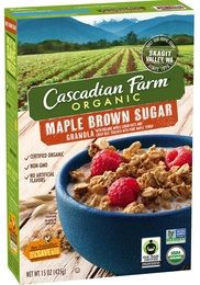 Cascadian Farm Organic | Products | Cereals | Granola | Maple Brown Sugar Granola (*has a small amount of molasses towards the end of the ingredient list, but should be tolerated by most on the low FODMAP diet- assess individual tolerance)