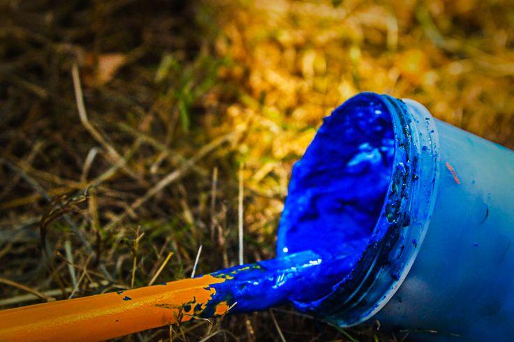 Blue paint ☺