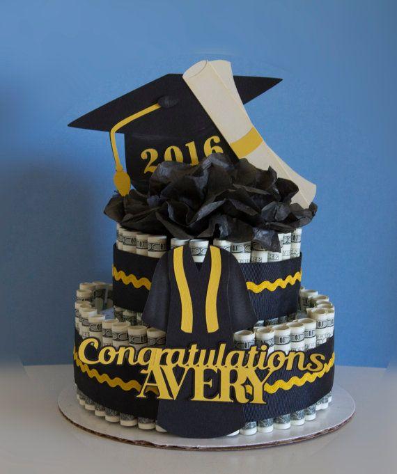Dinero pastel graduación enhorabuena por NewECreativeGifts en Etsy