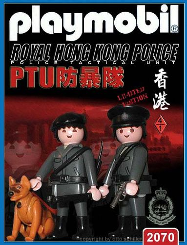 Royal Hong Kong Police - PTU   // The image and figures do not necessarily reflect the opinion of Playmobil. #playmobilcustom