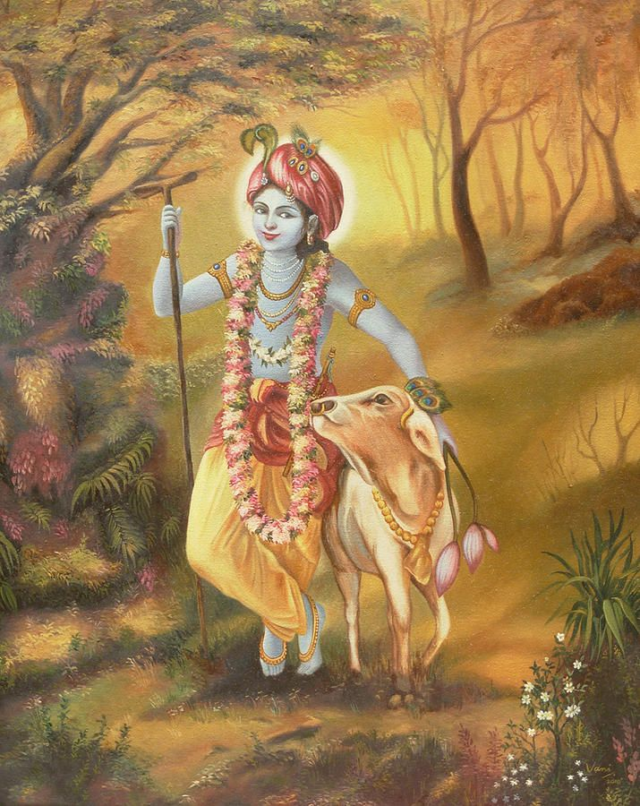 Lord Painting - Krishna by Vani Chawla