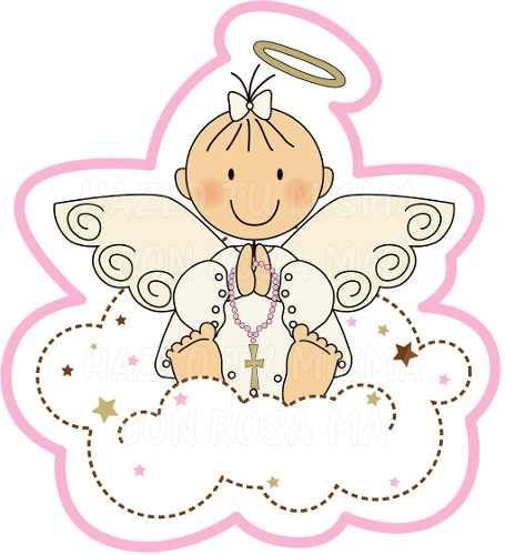 angeles caricatura primera comunion - Buscar con Google | Baby ...