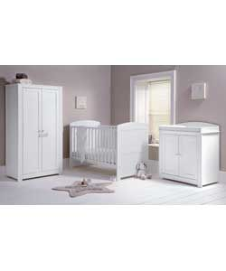Mamas And Papas Teo 3 Piece Nursery Set White 377 4388 Was 329 99 299 See The Additional Information Panel For Pricing Footn