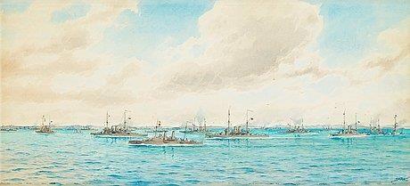 Vår örlogsflotta på Västkusten, 1909