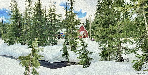A winter scene on Cypress Mountain, British Columbia