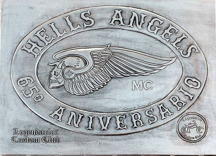 ArteyMetal: Placa custom hells angels - legendarios
