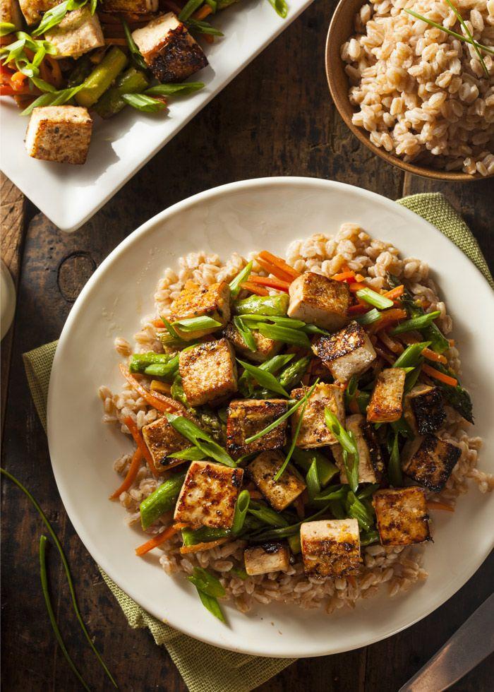 Tofu arrosto e speziato con orzo