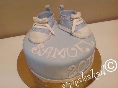 Baby boy baby shoes cake Doptårtor till liten pojke - emmabakad.blogg.se
