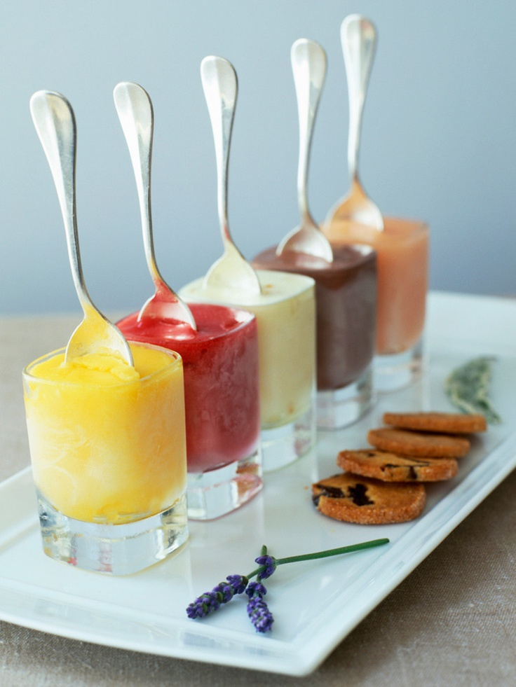 Love this way to serve sorbet.