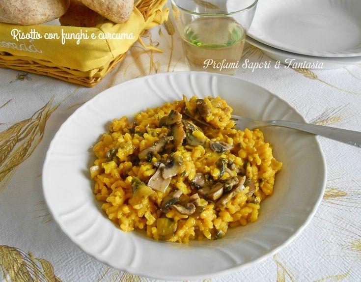 Il risotto con funghi e curcuma è una variante molto gustosa da preparare a piacere per la vostra famiglia. Una ricetta facile e semplice.
