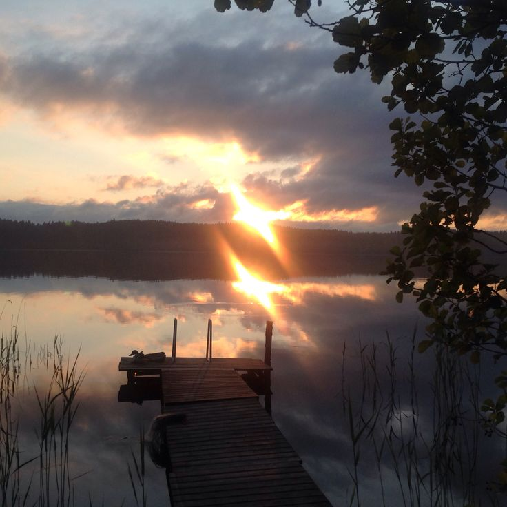 Midsommer Day evening at 22:09 sun came out for a while, Finland 2015