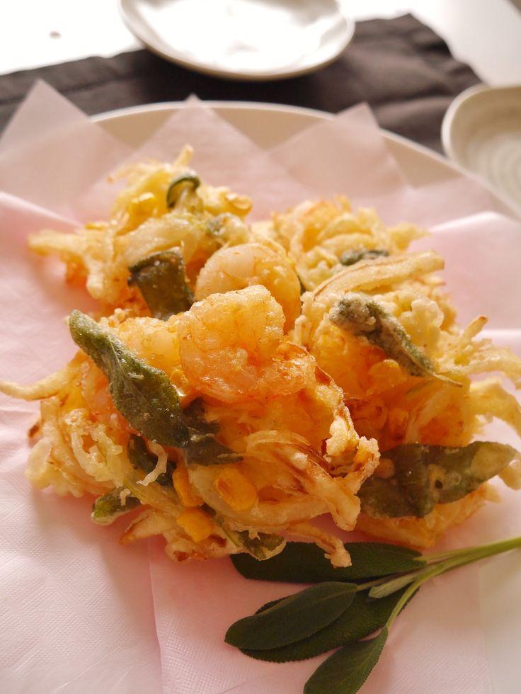 小えびとコーン、セージのかき揚げ by 若井 めぐみ | レシピサイト「Nadia | ナディア」プロの料理を無料で検索
