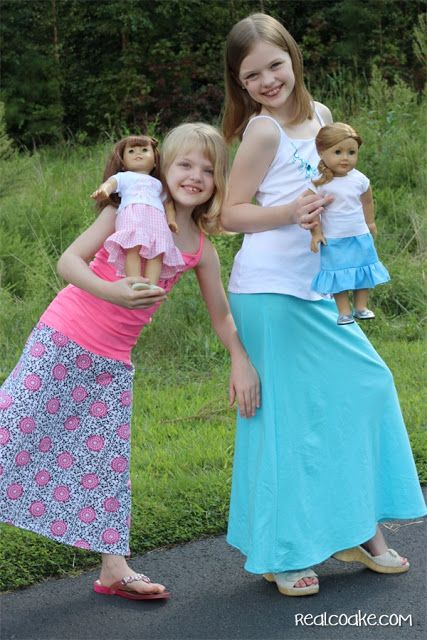 Maxi Skirt Pattern for Girls from realcoake.com