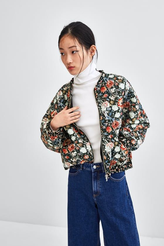 878c62f32 Image 2 of PRINTED QUILTED BOMBER JACKET from Zara | Fall/Winter 18 ...