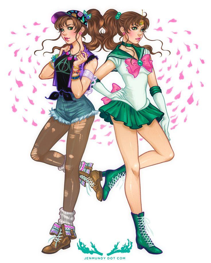(Sailor Moon) Lita Kino/Sailor Jupiter<<<<she's wearing a deathly hallows shirt