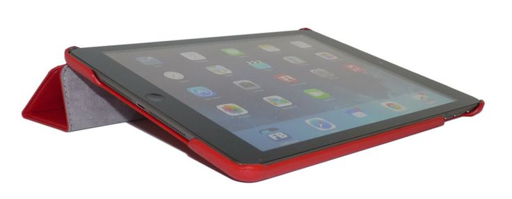 iPad Air Smart Case has a built in magnetic wake and sleep sensor. Close the case and the iPad automatically goes to sleep. Open it, and it wakes up.