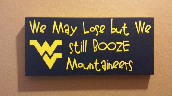 Mountaineers - WVU - WV Football - WVU Football - West Virginia - Mountaineer Football - Let's Go Mountaineers - Man Cave - wv fan