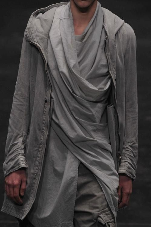 There is something so intriguing and dystopian about this draping.