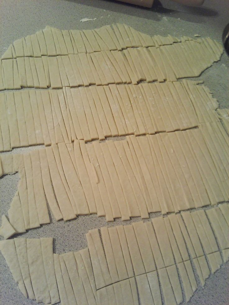 Homemade Egg Noodles -  so stinkin' easy and cheap! Grandma always said you should be able to read newsprint through them - then they are thin enough !