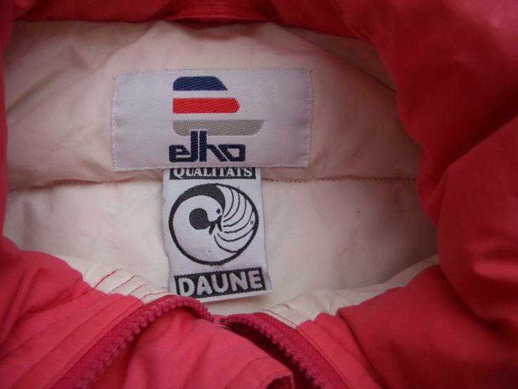 elho Daunenjacke, rot (um 1983)