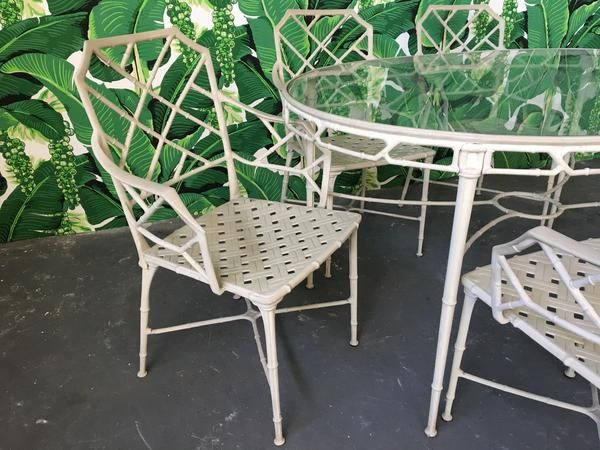Faux Bamboo Dining Table And Chairs
