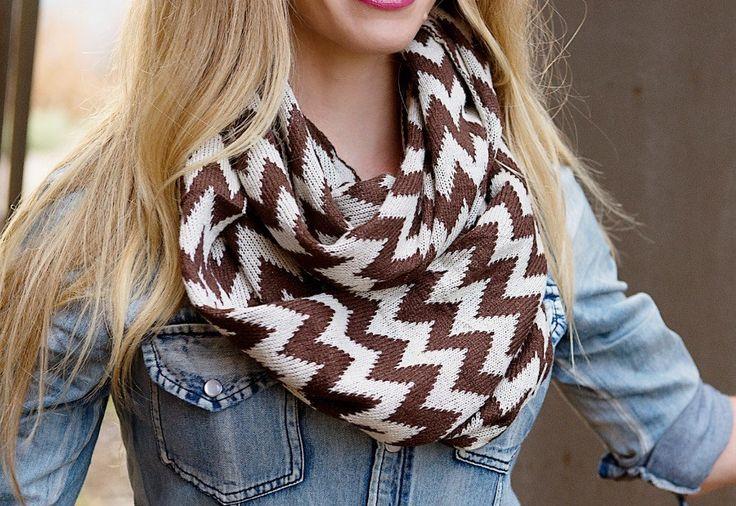 Winter Knit Chevron Scarves!
