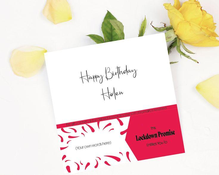 Lockdown Promise Birthday Card Lockdown Gift Card Personalised Lockdown Card With Gift Vou Birthday Card With Name First Birthday Cards 65th Birthday Cards
