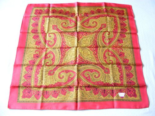 Sale Liberty Of London 23 034 Square Red Gold 100 Silk Paisly Scarf Uk Liberty Of London Scarves Uk Red Gold